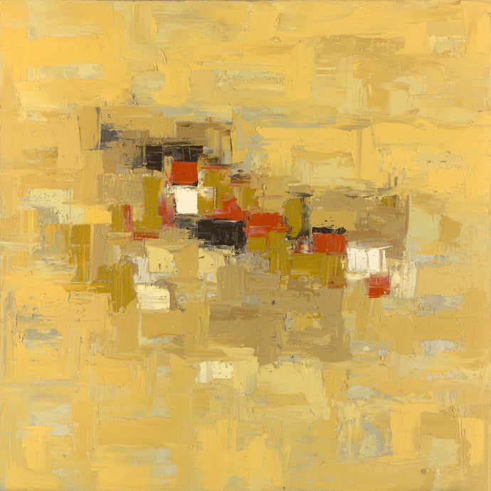 Onyeka Ibe, Structure 35, oil on canvas, 36x36