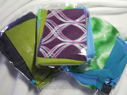 Assorted Fleece Scraps (10 count)