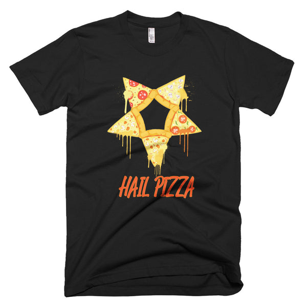 Hail pizza pentagram shirt black