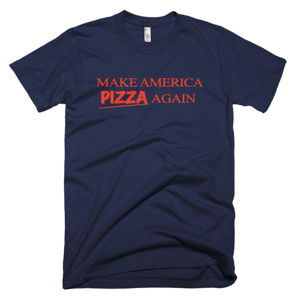 Make america pizza again shirt blue