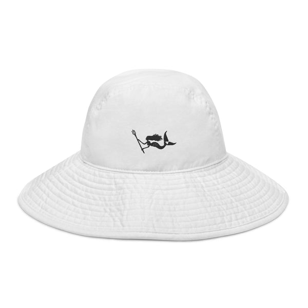 Signature Mermaid Wide brim bucket hat