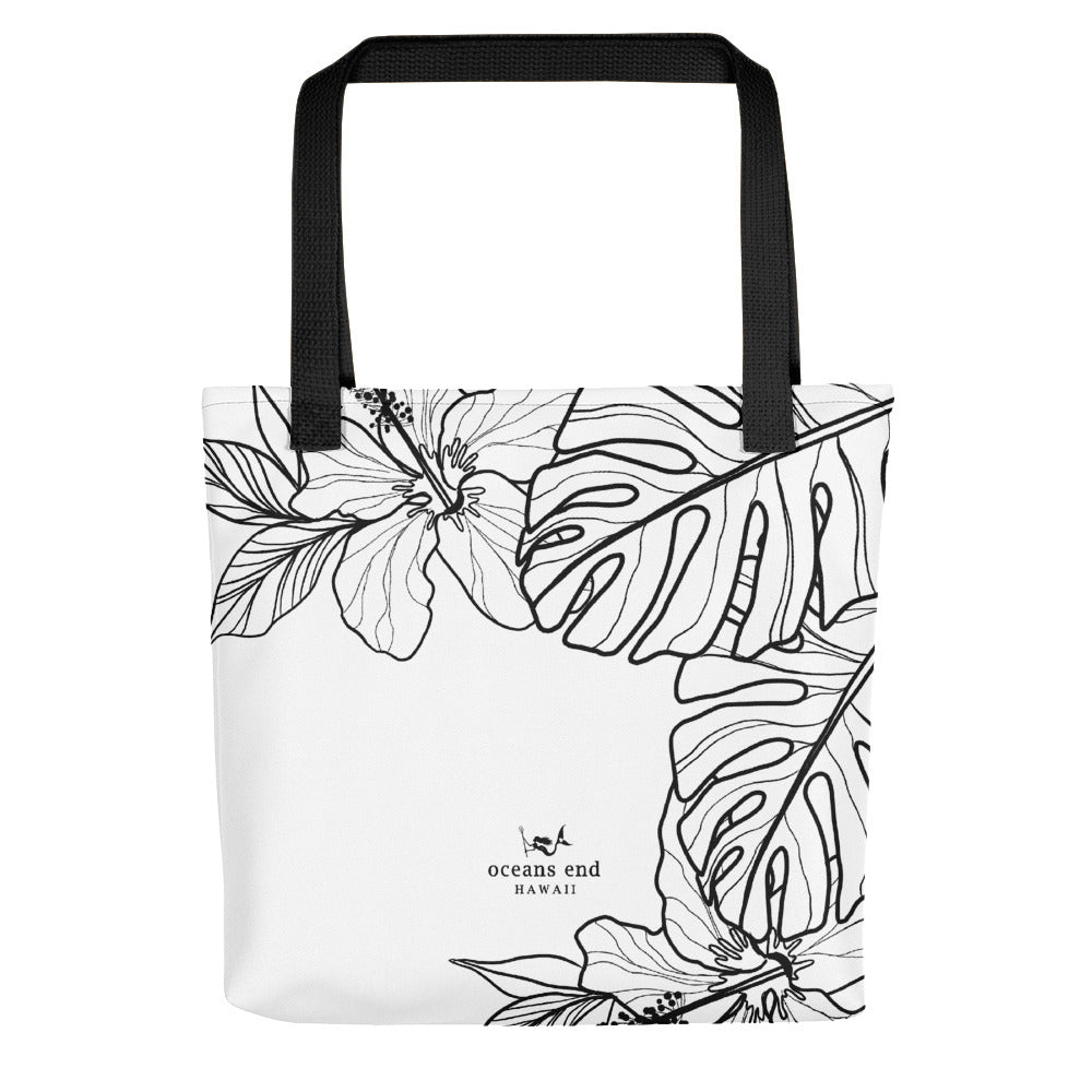 Hibiscus white Tote bag