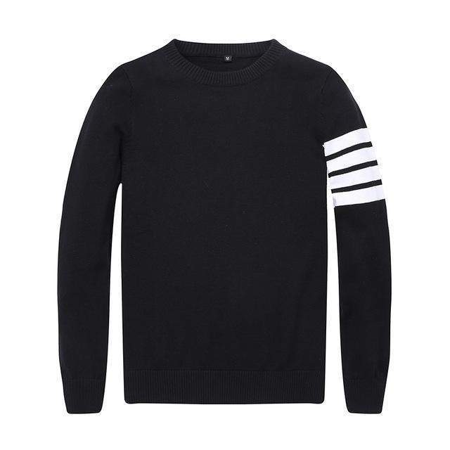 Arm Stripe Pullover-Men-itsSOYU-Black-XS-SOYU-itsSOYU-add to cart-shop