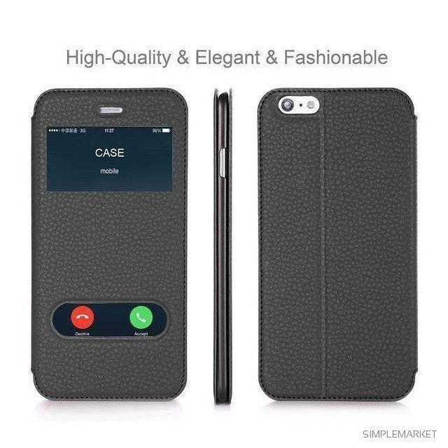 Leather Flip Case-itsSOYU-Black-for iPhone 6-SOYU-itsSOYU-add to cart-shop