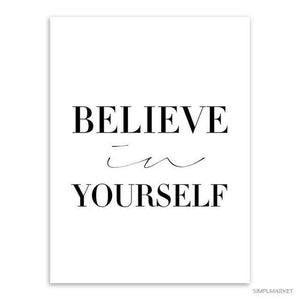 Nothing is Impossible. Believe in Yourself-itsSOYU-13x18 cm No Frame-Believe in yourself-SOYU-itsSOYU-add to cart-shop