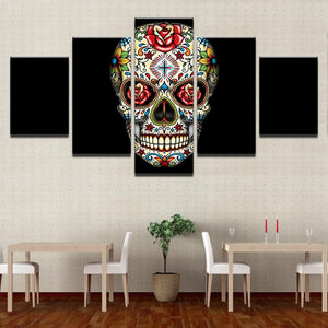 Roses Skull Canvas-Art-its S O Y U-SOYU-itsSOYU-add to cart-shop