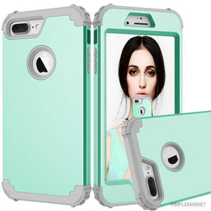 Shockproof Shell Case-itsSOYU-Mint Green and Grey-for iPhone 7-Case & Screen Protector-SOYU-itsSOYU-add to cart-shop