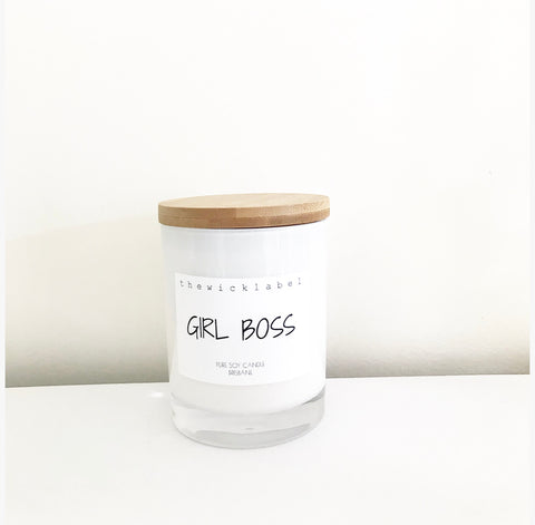 GIRL BOSS LARGE SOY CANDLE