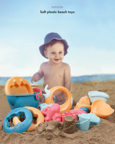 Beach Sandbox Set for Kids SET of 5 - 14 Pcs
