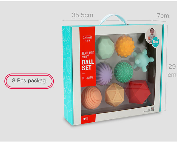 Textured Multi Ball Set of 6 - 10 PCS