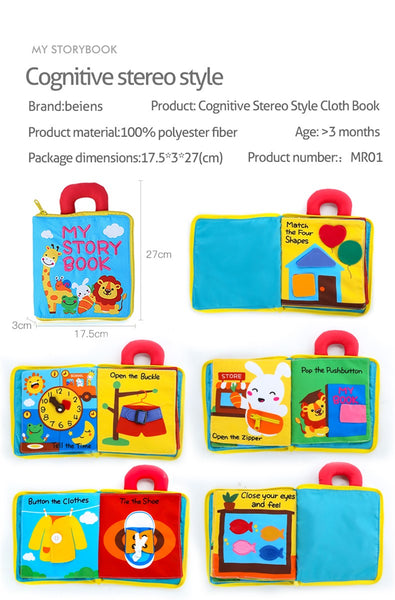 3D Soft Cloth Baby Books