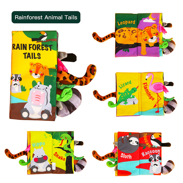 Soft Book With Animal Tails