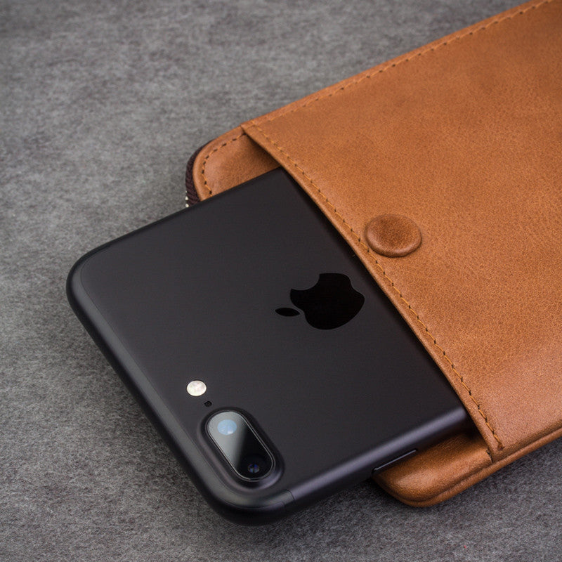 Qialino Leather hand bag for iPhone