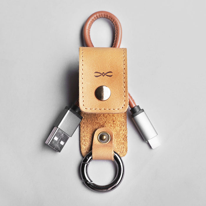 Lightning Leather Keychain