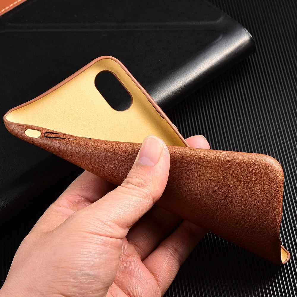 GENUINE LEATHER FLEXIBLE CASE FOR IPHONE