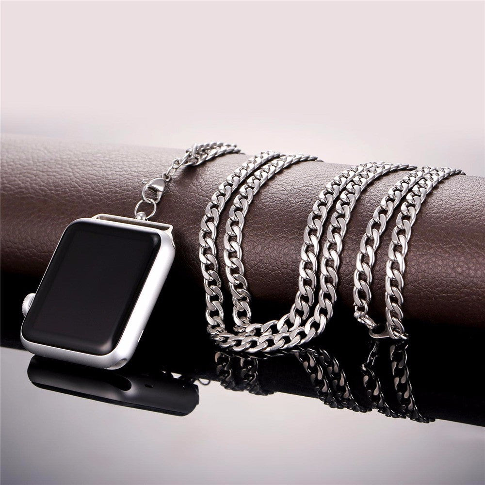 Cuban link chain for Apple watch