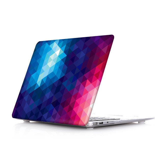 Blue/Rose Pattern case for MacBook (All Models)