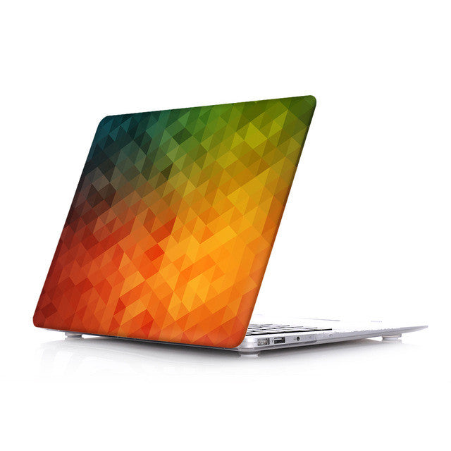 Orange/Green pattern case for MacBook (All Models)