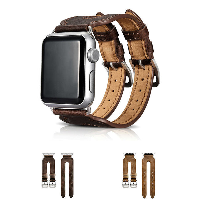 Vosone® Double Buckle Leather Strap