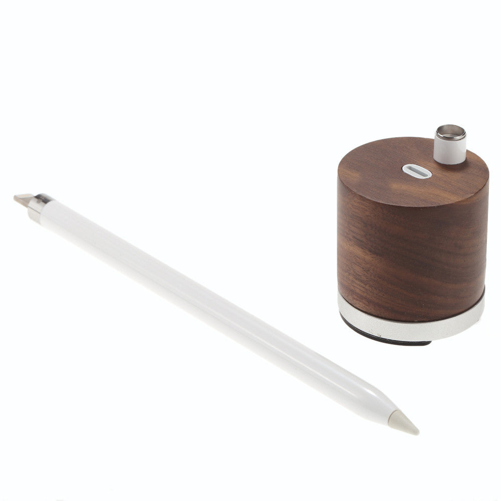 Wooden Charger & Holder for Apple Pencil