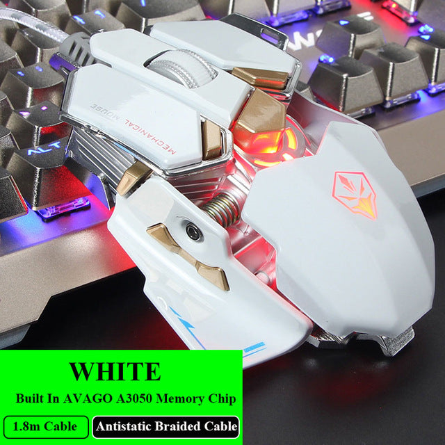 Legendary RGB Gaming Mouse (9 Buttons 4 Colors Backlight, Adjustable DPI )