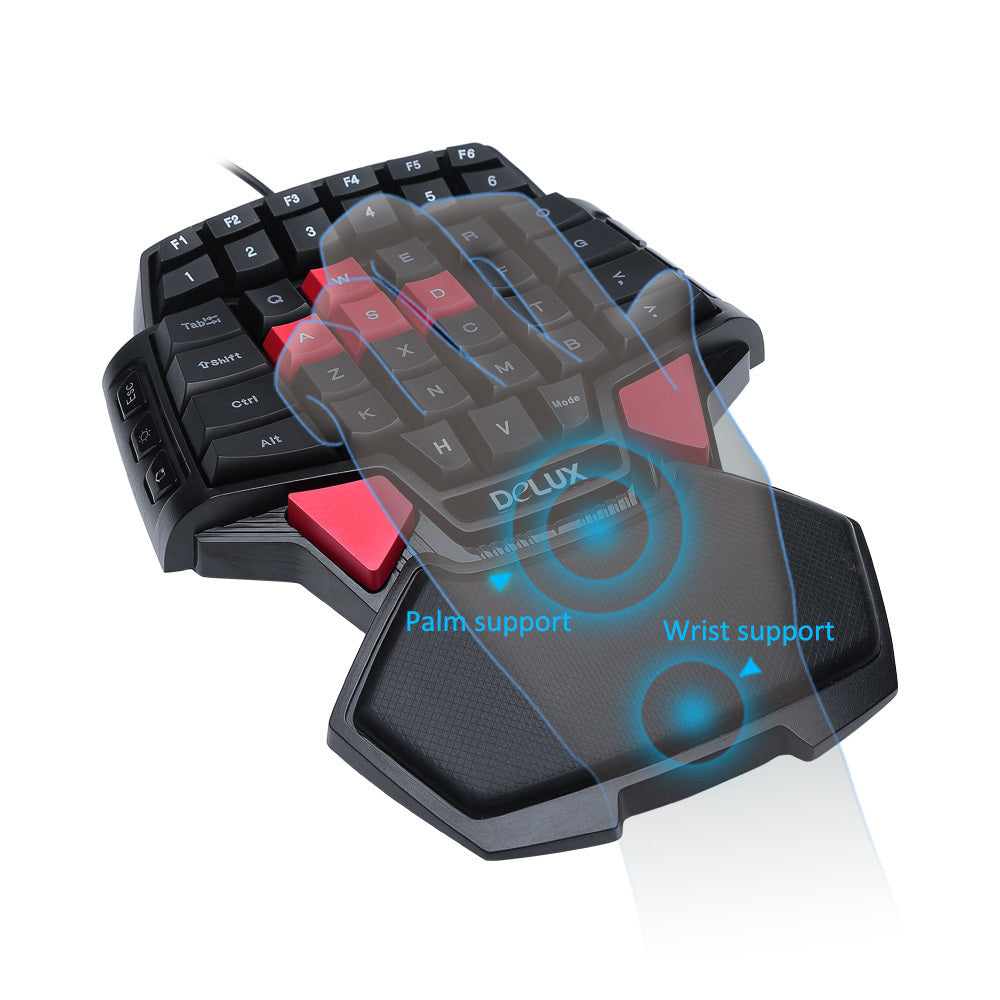 Pro-Gamer One handed Backlit Keyboard