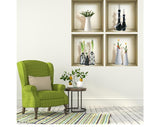 3D WALL Stickers, NICHE illusion set 4 PC, Removable Vinyl