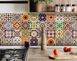 ***Decorative Tile stickers set of 24 Peel & Stick