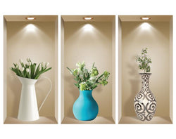 3D WALL Stickers, NICHE illusion set, Removable Vinyl