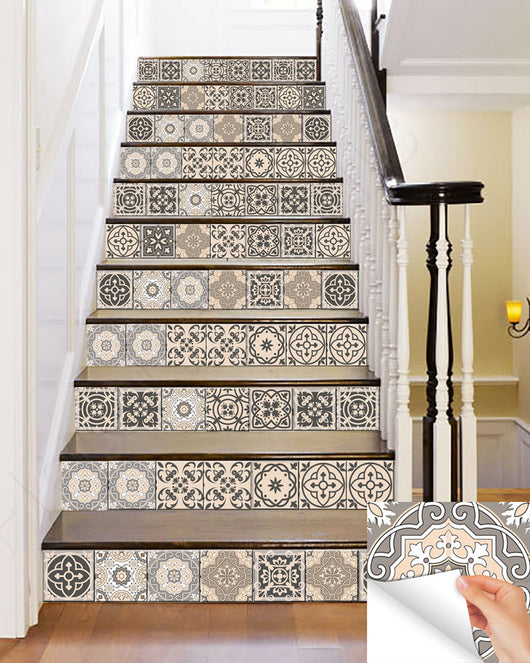 24 tile stickers Mexican Talavera style stickers mixed for walls Kitchen bathroom Stair decals SB20
