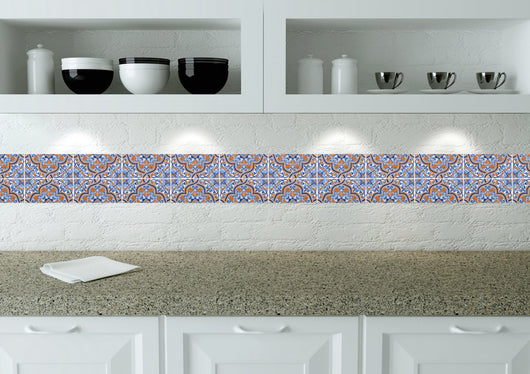 Kitchen Design Diy 24 Tile Stickers Mexican Talavera Style