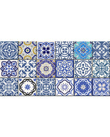 24 tile stickers Mexican tile stickers mixed for walls Kitchendecals  bathroom Stair decals SB11