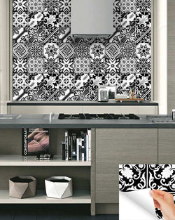 Products Alegriam - Black and white talavera tile