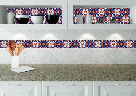 Set of 24 tile stickers DIY decor style stickers mixed for walls Kitchen bathroom Stair decals D11