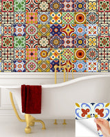 24 UNITS tile decals DIY Set of 24 vintage mural bathroom Decals stickers Bathroom design kitchen decor idea design D