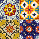Wall Decals decor  Sticker Set of 24 Tiles decal mixed Tiles for walls Kitchen home decoration Mexican tile D10