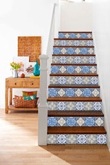 Splashback 24 tile stickers Mexican tile stickers mixed for walls Kitchendecals  bathroom Stair decals H402