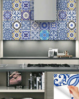 24 tile decals Mexican tile stickers bathroom decor ideas mixed for walls Kitchen decals  bathroom Stair decals SB11