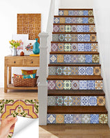 DIY kitchen decals stairs bathroom wall HA3 Set of 24 Tiles Decals Tiles Stickers mixed Tiles for walls Kitchen Bathroom HA3