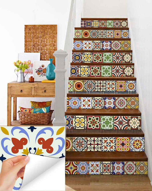 spanish Set of 24 Tiles Decals Tiles Stickers Tiles for walls Kitchen Bathroom D