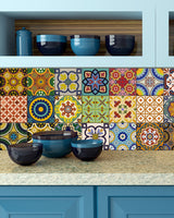 Back splash Set of 24 Tiles Decals Tiles Stickers Tiles for walls Kitchen Bathroom C