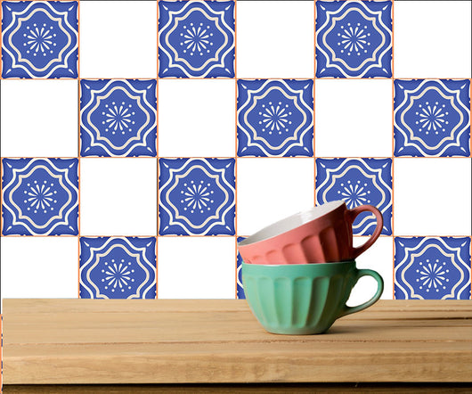 Set of 20 Tiles Decals Mexican Tiles Stickers adhesivo de azulejo Tiles for walls Kitchen Bathroom A9