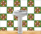 Set of 20 Tiles Decals Tiles Stickers Tiles for walls Kitchen Bathroom tile decals H5