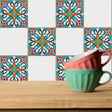 Tiles Stickers Set of 20 authentic Mexican shades Tiles Decals Tiles for walls Kitchen Bathroom decoration H6