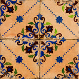 traditional spanish Set of 24 tile stickers wall decals antique tiles Stickers tiles  Kitchen decals Bathroom decals Mexican tile H8