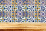 Tiles Decal Mixed ceramic wall Set of 24 Kitchen Bathroom ceramic Mexican Decals Stickers walls Accessories H401