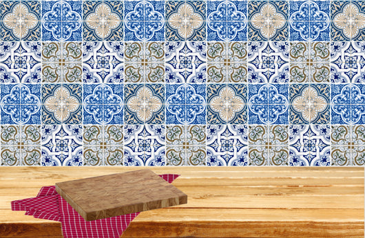 Mixed Tiles of 24 Decal ceramic wall Kitchen Bathroom ceramic Mexican Decals Stickers walls Accessories H402