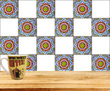 Tiles Stickers Ancient Unique Bathroom Tiles Set of 20 Tiles Decals adesivi per piastrelle tile decal Kitchen S6