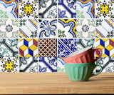 Kitchen Tile Set of 24 Tiles Decals Stickers mixed Tiles for shower Bathroom walls Accessories V3