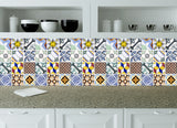 Spanish tile Kitchen Tile Set of 24 Tiles Decals Stickers mixed Tiles for shower Bathroom walls Accessories V5